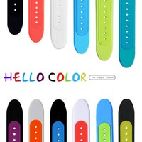 Wholesale 2015 fashion soft Silicone bracelets mm m Watchband for i watch Apple Smart Watch wristwatch iwatch spot Style Wrist strap with Adapter