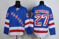 Wholesale Rangers MCDONAGH Lundqvist Premier Players Jersey Royal Blue Hockey Jerseys Playoffs Mens Hockey Jerseys High Quality Uniforms