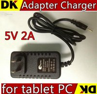 Wholesale 200PCS DHL V A Wall Power Adapter Charger for tablet PC Allwinner A13 A23 Q88 TC4