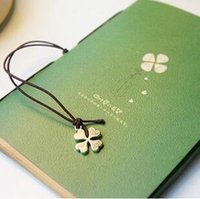 Wholesale Free ship pc Love clover rope notebook writing book student prize gift