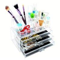 acrylic cosmetic display - New Makeup Lipstick Cosmetic Display Acrylic Cosmetic Organizer Drawer Makeup Case Storage Insert Holder Box EQC347