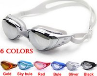 Wholesale anti fog anti ultraviolet swimming goggles men and women unisex coating swimming glasses adult goggles free ship