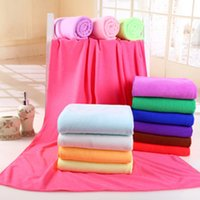 bath towels lot - 1PCS Durable Beach Towel Shower Towel x70cm Bath Towel Bamboo Microfiber Super Absorbent Home Textile Colors Hair Drying Washcloth