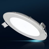 Wholesale DHL Free Dimmable Round Led Panel Light SMD W W W W W W V Ceiling Recessed down light downlight driver