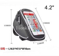 Wholesale ROSWHEEL S quot Bike Bicycle Cycle Cycling Frame Tube Panniers Waterproof Touchscreen Phone Case Bag