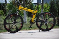 Wholesale 26 inch folding mountain bike disc brakes and speed folding bicycle MTB steel frame and spoke wheel