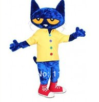 Wholesale Pete the Cat mascot costume custom fancy costume anime cosply kits mascotte fancy dress carnival costume