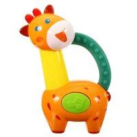 Wholesale 1 New Lovely Plastic Baby Elepant Bee Monkey Educational Toys Hand Shake Bell Ring Rattles Neonatal Owl Type