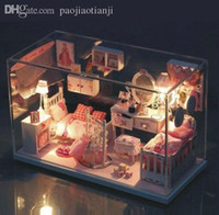 Wholesale Princess Room DIY Doll House Dollhouse Miniatures LED Furniture Kit Gift New