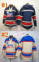 usa hockey jersey - team usa blank Cheap Hockey Hooded Stitched Old Time Hoodies Sweatshirt Jerseys