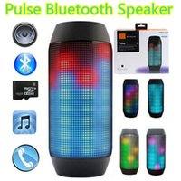 Wholesale New Pulse speaker pill bluetooth speaker Bluetooth audio wireless big sound box support TF card portable Speakers with LED light FM