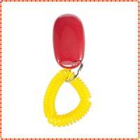 Wholesale 10pcs Wrist strap design Dog Pet Click Clicker Trainer Aid Dropshipping