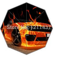 best car fabric - Novelty Gift Good Quality Sun Rain Umbrella Best The Buring Car Cool Portable Foldable Umbrellas