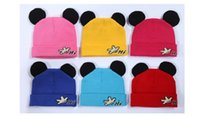 baby hats manufacturer - 2015 Baby New Korean Style Mickey Ear Winter Casual Beanie Dome Caps W Manufacturer Hot Sale