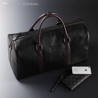 Wholesale new designer brand fashion cowhide carry on luggage genuine leather weekender bag large capacity men travel duffel bag