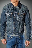 Wholesale 2015 American Style Mens True Jeans Jackets M L XL XXL XXXL High Quality