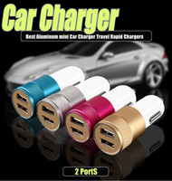 best portable ipad charger - Best Aluminum mini Car Charger PortS Portable Travel Rapid Chargers Auto Adapte for Apple iPhone6s ipad iPod Samsung Galaxy for Universal