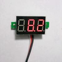 dc voltage panel meter - 5PCS Red LED DC V Digital Voltmeter Car Motor Motorcycle Battery Monitor DC Volt Voltage Panel Meter