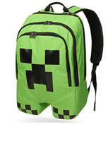 Wholesale in stock Minecraft bag Minecraft backpack Minecraft creeper backpack school bag cm christmas best gift for children