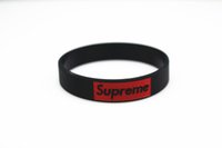 Wholesale Hot fashion silicone wristbands Tide brand color silicone wristband Bracelet