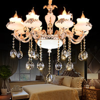 Wholesale The European candle chandelier Home sitting room dining room bedroom luxury crystal chandelier Villa hall droplight Hotel store decoration c