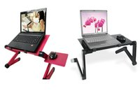 Cheap Portable Folding Black Aluminum Alloy Laptop Stand Fan Cooling Notebook Computer Stand Table Desk Bed Sofa Tray Lapdesks Fap