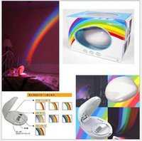 beautiful wall lamps - High quality fashion sleep room office walls ceiling gift beautiful romantic LED night rainbow light lamp lighting projector