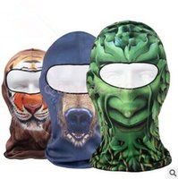 basketball hood - 300pcs CCA3336 Designs D Balaclava Mask Outdoor Sports Cycling Basketball Golf Ski Hood Hat Balaclava Snowboard Protect Full Face Mask