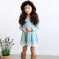korean kids clothes - Fashion Korean Girl Dress Princess Dresses Children Clothes Kids Clothing Spring Autumn Winter Lace Dresses Long Sleeve Dresses C10763