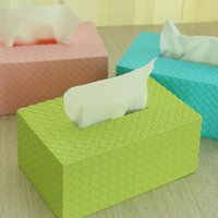 Wholesale The paper towel box Simple And Elegant Environmental Protection Light Green