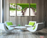 Cheap Modern home interior frameless painting print canvas oil panting fresh natural green scenery wall art picture factory supply