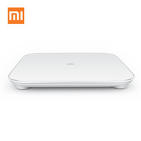 Wholesale 100 Original Xiaomi Scale Mi Smart Body Weight Digital Scale Support Android IOS Bluetooth Above Smartphone White Color PA2226