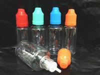 Wholesale Needle bottle ml ml PE PET Empty bottle Plastic Dropper Bottle Empty E Liquid Bottle Oil Bottle free DHL Childproof Colorful caps