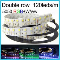 Wholesale Silicon Tube Led Strip Lighting - DC 12V 120leds m 5m 600leds waterproof IP67 silicon Tube SMD 5050 rgbw (rgb+white and rgb+warm white) Flexible led strip lamp light