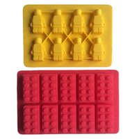 baking pans types - Karen Baking One Set Lego and Robot type Muffin Sweet Candy Jelly fondant Cake chocolate Mold Silicone tool Baking Pan B183