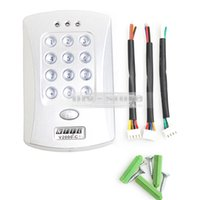 Wholesale KHz Door RFID Keypad Proximity Reader Access Controller System Free Key Fobs Brand NEW V2000 C