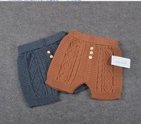 Cheap 1-4Y top quality baby knit short pants new arrival infants boys girls 100% cotton knitted pant trousers kids toddlers shorts