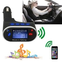 Wholesale car dvd Wireless Bluetooth Car Kit MP3 Player FM Transmitter Modulator Remote Controll Handfree LCD Display SD Music Player