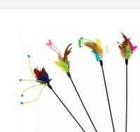 Wholesale New Pet Product Pet Toys Cat Toys With Feather Cat Playing Stick Funny Hot Sale