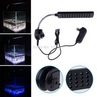 Nouveau 12 V 48 LED Aquarium Réservoir de poissons Light Water Plant 2 Mode Clip Blanc Blue Bulb Lampe Fish Tank LED Light Bar Drop Shipping
