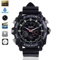 Wholesale Fashion Watches GB Popular HD P Night Vision Recording Waterproof Watch SPY Camera