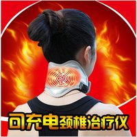 Wholesale Far infrared heating cervical treatment instrument for neck magnetic and heat therapy with high end apocynum material