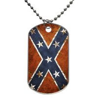 Wholesale Confederate Rebel Flag Customized Colorful Design Dog Tag Necklace Aluminum Tag for Animal Pets Tag