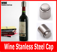bar stock storage - Stainless Steel Champagne Stopper Wine Stainless Steep Vacuum Cap Seeled Wime Storage Bottle Stopper Plug Bottle Cap Pressing
