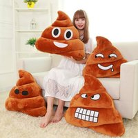 Wholesale Creative Emoji Pillow Decorative Cushion Gift Cute Shits Poop Stuffed Toy Doll Christmas Present Funny Plush Bolster Pillows