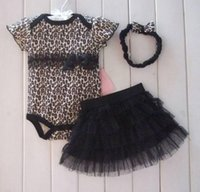 ballet short hair - 3 Set Baby Girls Leopard Print Romper Princess Ballet Dress Hair Band Outfit