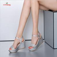 wedge wedges - Rilihong Women s Shoes Platform Wedges Sandals Heels Peep Toe Platform Slingback Sandals Pumps Heels Dress Casual Silver Gold Summer Sandals