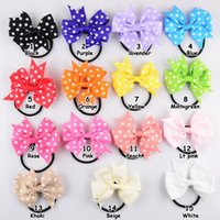 color rubber hair bands - Xayakids DIY hair bows clips version of V shaped little hair ribbon bow rubber band color hair accessories for girls flowered hairband