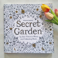 Wholesale 2015 Secret Garden An Inky Treasure Hunt and Coloring Book Adult Children Relax Graffiti Painting Book