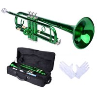 Wholesale Brand Hgih Quality Brass B Trumpet Green with Case Gloves for from US US